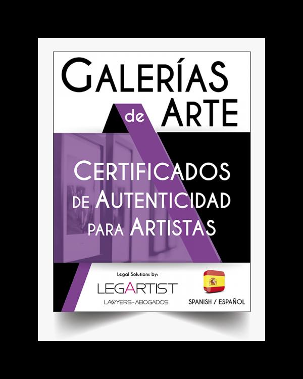 Certificado Autenticidad para Artistas y Galerías de Arte